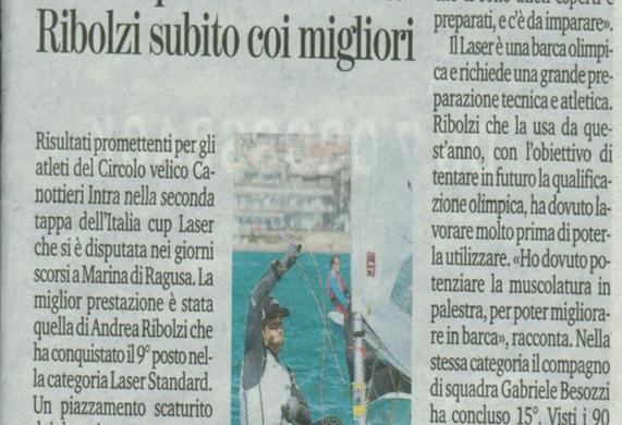 Italia Cup Laser in Sicilia: Ribolzi subito coi migliori